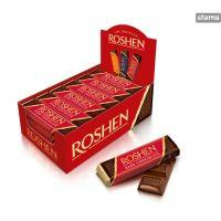 Roshen -Dark Chocolate - Baton de ciocolată neagră cu Fondant 43g