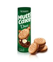 Roshen - Multi cake Duo - Biscuiți cu gust de ciocolată și alune 180g