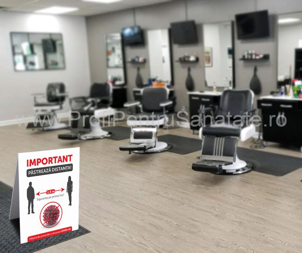 Panou avertizare COVID-19 salon / frizerie / barbershop