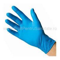 Mănuși nitril albastre, nepudrate, mărimea L