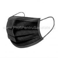 Masca medicala 3 straturi cu elastic,neagra