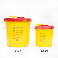 Cutie plastic pentru deșeuri medicale 1.5 L