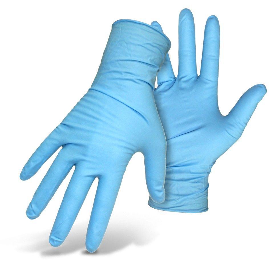 Mănuși nitril albastre nepudrate