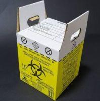Cutie carton cu sac pentru colectarea deseurilor medicale infectioase-10 L
