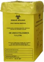 Cutie carton cu sac pentru colectarea deșeurilor medicale infecțioase 7.5 l