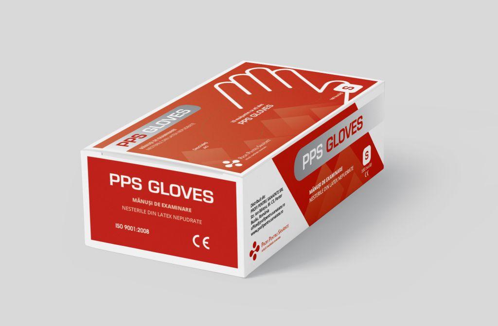 Mănuși de examinare din Latex nepudrate, Mărime S, marca PPS