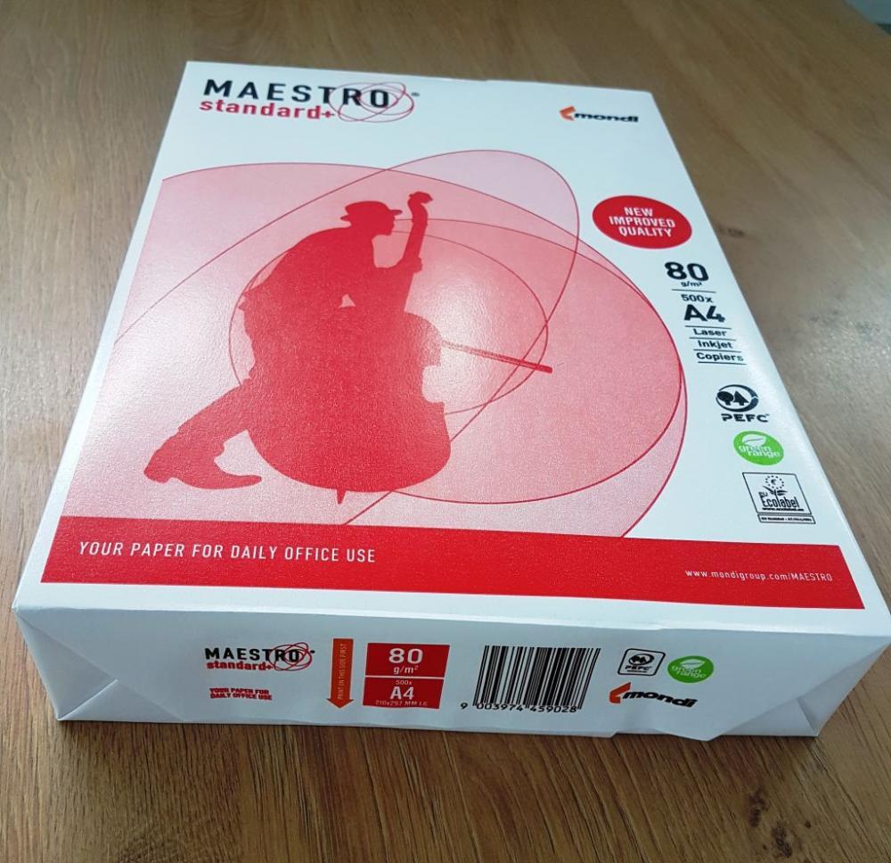 Hartie MAESTRO STANDARD Economy A4(210 x 297 mm), 80 g/mp, 500 coli/top