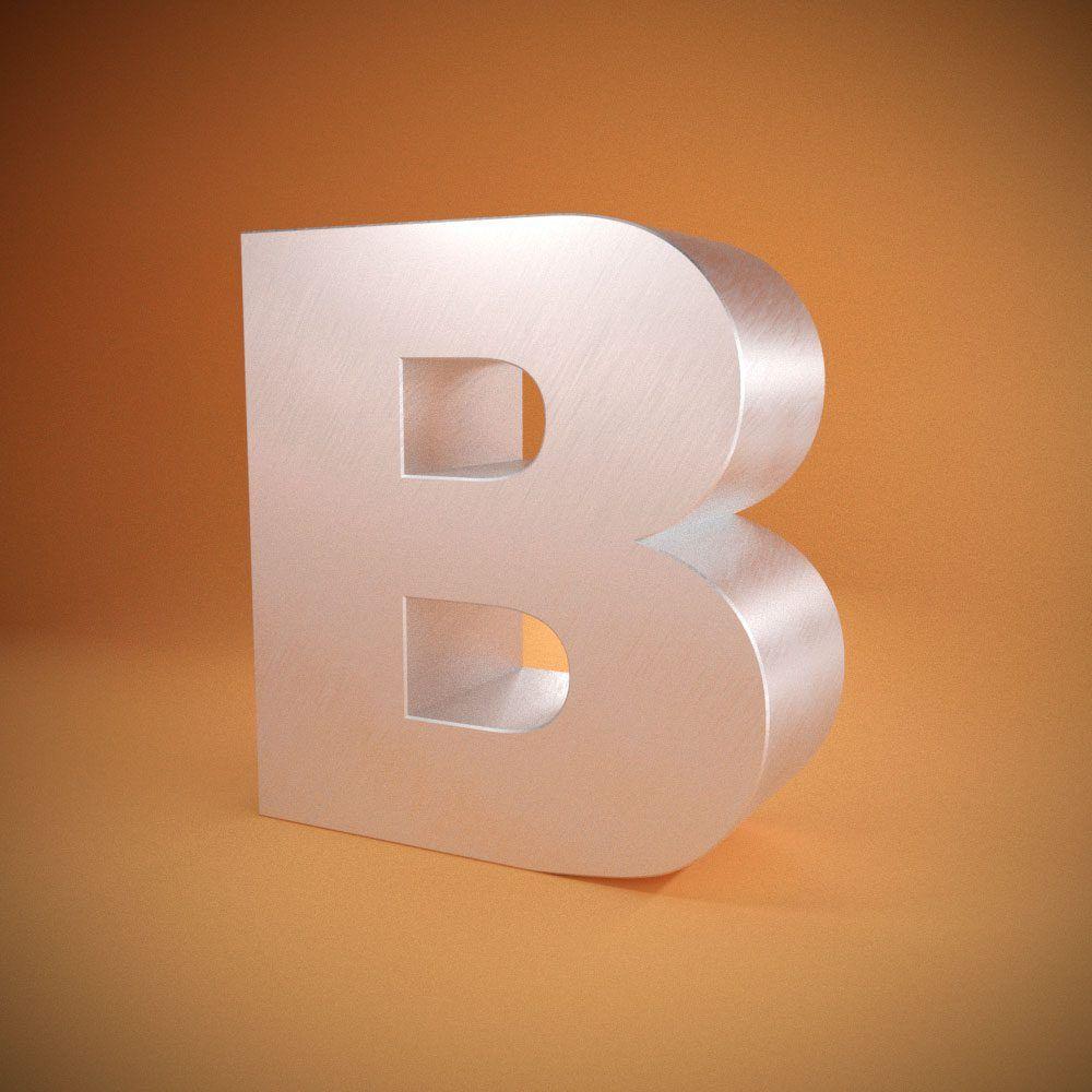 Litere volumetrice din material compozit din aluminiu (dibond)