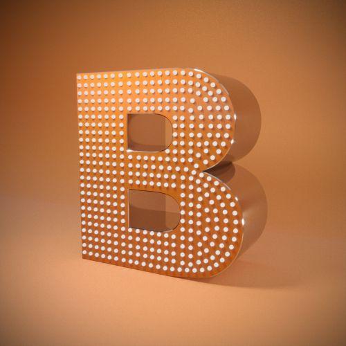 Litere volumetrice cu iluminare deschisă LED Pixel