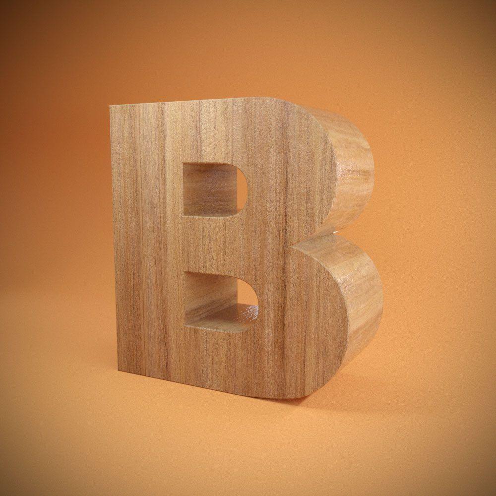 Litere volumetrice din lemn, neluminoase
