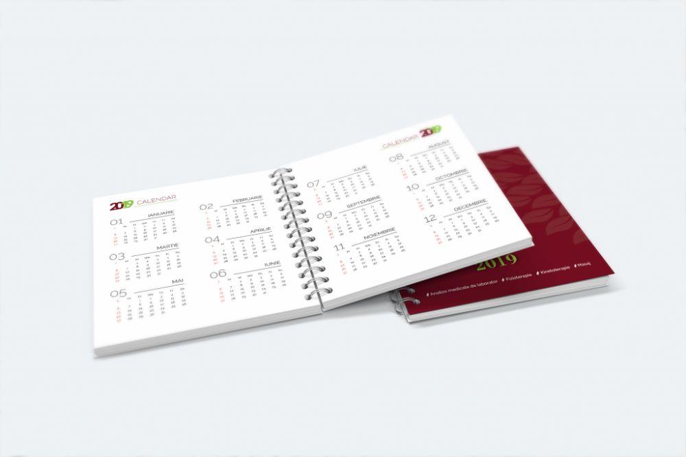 Simulare agenda interior calendar
