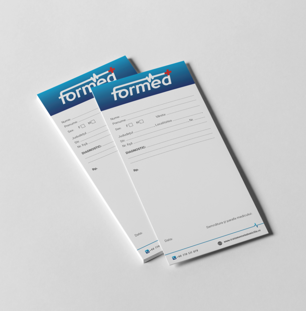 Rețetare DL  1/3 A4 (print digital)