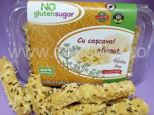 Sărățele fără gluten cu cașcaval afumat 200 g