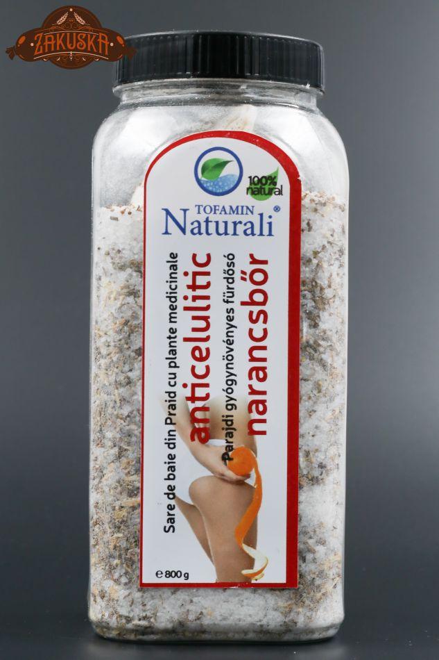 Sare de baie din Praid cu plante medicinale anticeluliticSare de baie din Praid cu plante medicinale anticelulitic 800 g