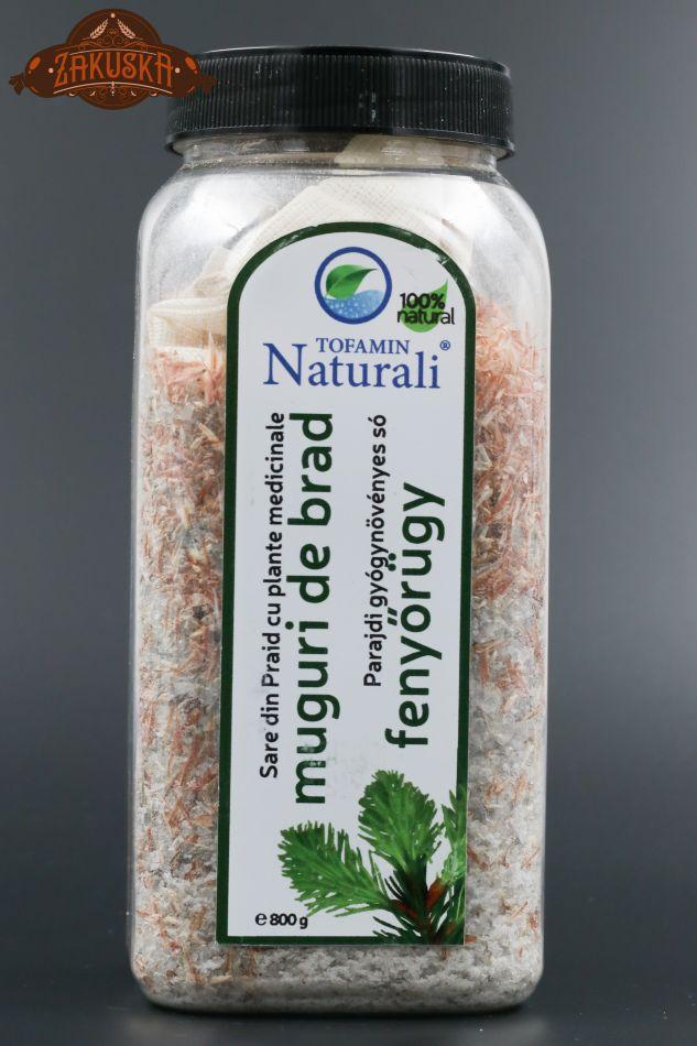Sare de baie din Praid cu plante medicinale muguri de brad 800 g
