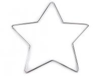 Stea metalică pentru prinzător de vise, Ø20 cm nichel