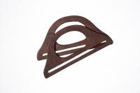 Mânere din lemn pentru geantă-maro