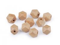 Mărgele din lemn natur, 12x15 mm