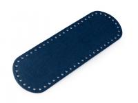 Fund geantă, 10x30 cm -albastru închis