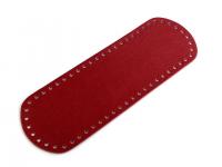 Fund geantă, 10x30 cm -roșu închis