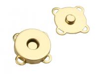 Închizatori / Capse magnetice de cusut, Ø18 mm -auriu