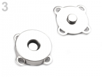 Închizatori / Capse magnetice de cusut, Ø18 mm nichel