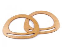 Mânere din lemn pentru geantă oval, natur