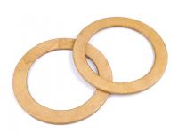 Mânere din lemn pentru geantă, Ø14 cm