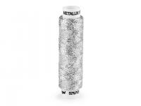 Ață metalică pentru brodat Metalux, 100 m argintiu