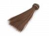 Păr / Perucă pentru păpuși, 15 cm-maro