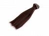 Păr / Perucă pentru păpuși, 15 cm-maro inchis