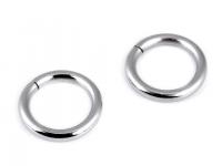 Inel metalic, Ø15 mm-nichel