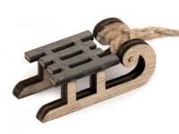 Decorațiuni din lemn - săniuțe- gri