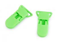 Clipsuri din plastic, lățime 20 mm -verde