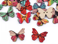Nasturi decorativi din lemn, model fluture mix