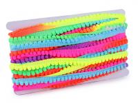 Bandă cu ciucuri neon, lățime 14 mm, Ø6 mm