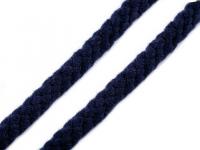 Șnur bumbac, Ø10 -12 mm-albastru inchis