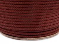 Șnur poliester PES, Ø4 mm-bordo