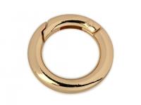 Inel carabină, Ø18 mm auriu