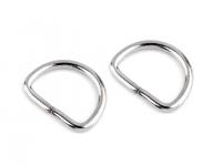 Inel metalic tip D, lățime 20 mm -nichel