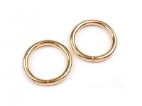 Inel metalic, Ø25 mm auriu