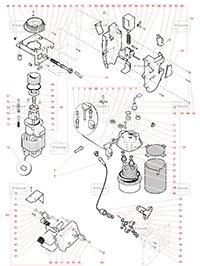 Boiler, Macinator - Componente