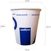Pahare carton 8 OZ Lavazza (50 buc/set)