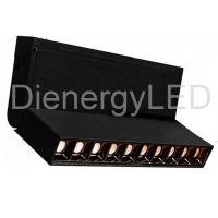 Spot Linear LED 10 x2W , Magnetic, NegrI, P20, 24V,Lumina Calda (3000K)