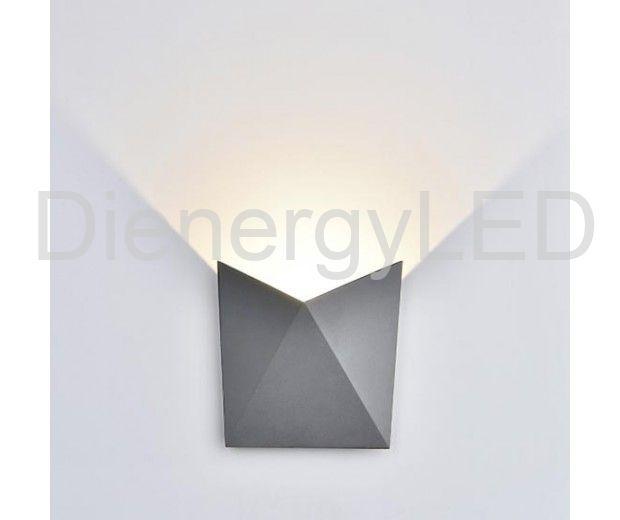 vtac8285vtacvt8255wledcobwalllightdaywhite4000kaluminiumgreybodyip65sku82851b0
