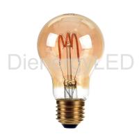Bec LED - 3W E27 Filament Gold Glass Curve Shape ST64 2200K - Nou