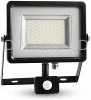 30W Proiector LED cu Senzor Corp Negru/Gri SMD 4500K