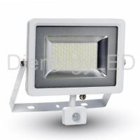 50W Proiector LED SMD Senzor Corp Alb 6000K - Nou