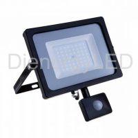 50W Proiector LED cu Senzor Corp Negru SMD 6000K
