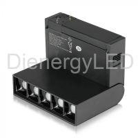 Spot Linear LED Magnetic 5 x2W SMD Negru, Aluminiu, IP20 24V Lumina Calda